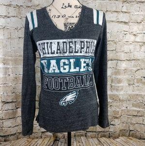 NFL Liscensed Philadelphia Eagles LS Vneck Size M
